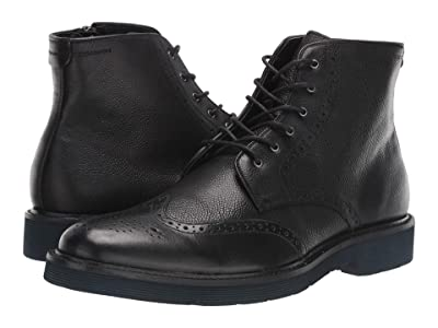 J&M EST. 1850 Kinley Wing Tip Boot (Black) Men