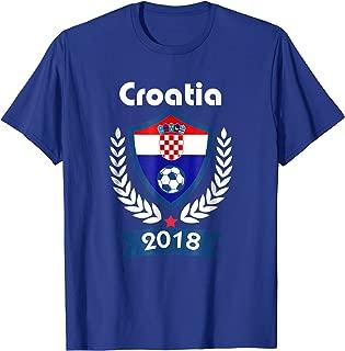 Croatia Soccer shirt Team Russia 2018 TShirt Football