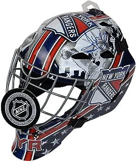 Henrik Lundqvist Signed New York Rangers Full Size Replica Shield Logo Goalie Mask - Steiner Sports Certified