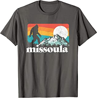 Missoula Montana Retro Bigfoot Mountains T-Shirt