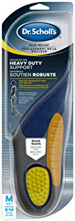 Dr. Scholl's HEAVY DUTY SUPPORT Pain Relief Orthotics. Designed for Men over 200lbs with Technology to Distribute Weight a...