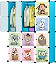 Wardrobe for Hanging Clothes Combination Armoire Modular Cabinet for Space Saving Storage Organizer with Doors Cabinet 16 ...