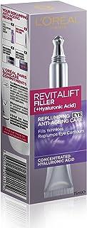 L'Oréal Paris Revitalift Filler Re-Plumping Anti-Ageing Eye Cream, with Hyaluronic Acid, 15ml