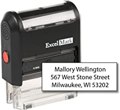 ExcelMark Custom Self Inking Rubber Stamp - Home or Office (A1848-3 Lines)