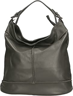 Aren - Shoulder Bag Borsa a Spalla da Donna in Vera Pelle Made in Italy - 40x38x19 Cm