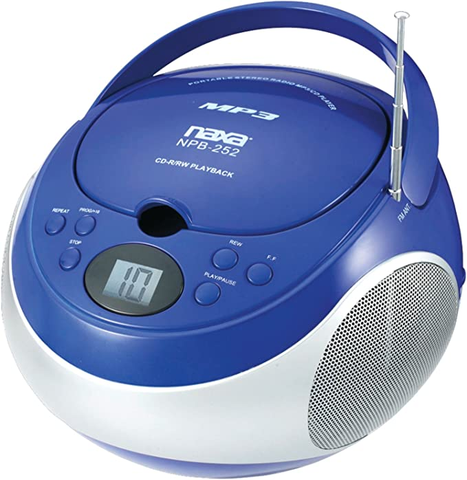 Red Naxa Npb252rd Portable Cd//Mp3 Player With Am//Fm Stereo