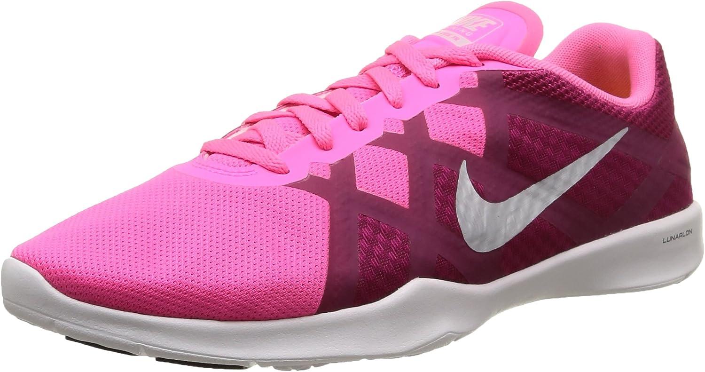 Women's Nike Lunar Lux TR Training shoes Pink Pow Sport Fuchsia White Platinum Size 8 M US