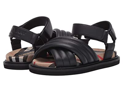 Burberry Kids Clangley Check Sandal (Toddler/Little Kid) (Black/Check) Kid