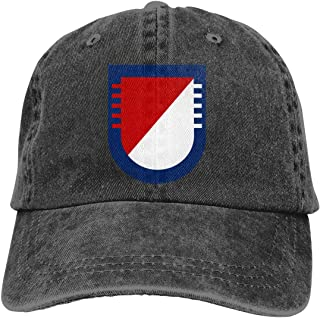 Sendyniu5 US Army 5th Squadron-73rd Cavalry Regiment Denim Hats Baseball Cap Dad Hat