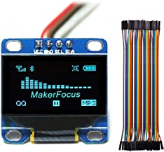 MakerFocus I2c OLED Display, 0.96 Inch IIC Serial LCD LED Module 128 64 for Arduino with 40pcs Du-pont Wire 20CM 40-Pin Female to Female