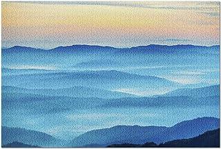 HDグレートスモーキーマウンテンズ国立公園-ブルーマウンテンズ&ヒルズアットサンセット9038cm062(プレミアム52ピースジグソーパズル52x38cm)