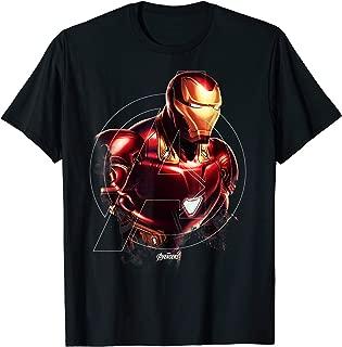 Avengers Endgame Iron Man Portrait Graphic T-Shirt T-Shirt