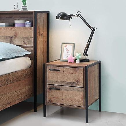 Excellent Amazon Co Uk Brown Bedside Tables Bedroom Furniture Home Interior And Landscaping Ponolsignezvosmurscom