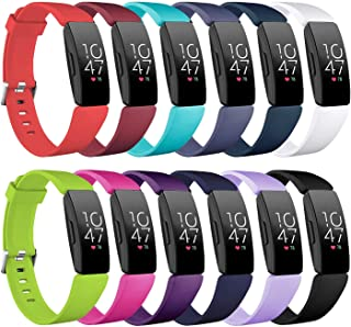 Five Star Online Compatible with Fitbit Inspire & Inspire HR Watchbands,Soft Silicone Replacement Wristbands Compatible with Fitbit Inspire & Inspire HR Watch for Women Men(12Pack,Small: 5.5'' -6.7'')