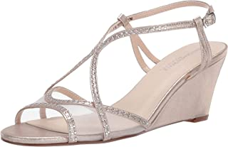 Touch Ups womens Elodie Heeled Sandal, Champagne, 5.5 US