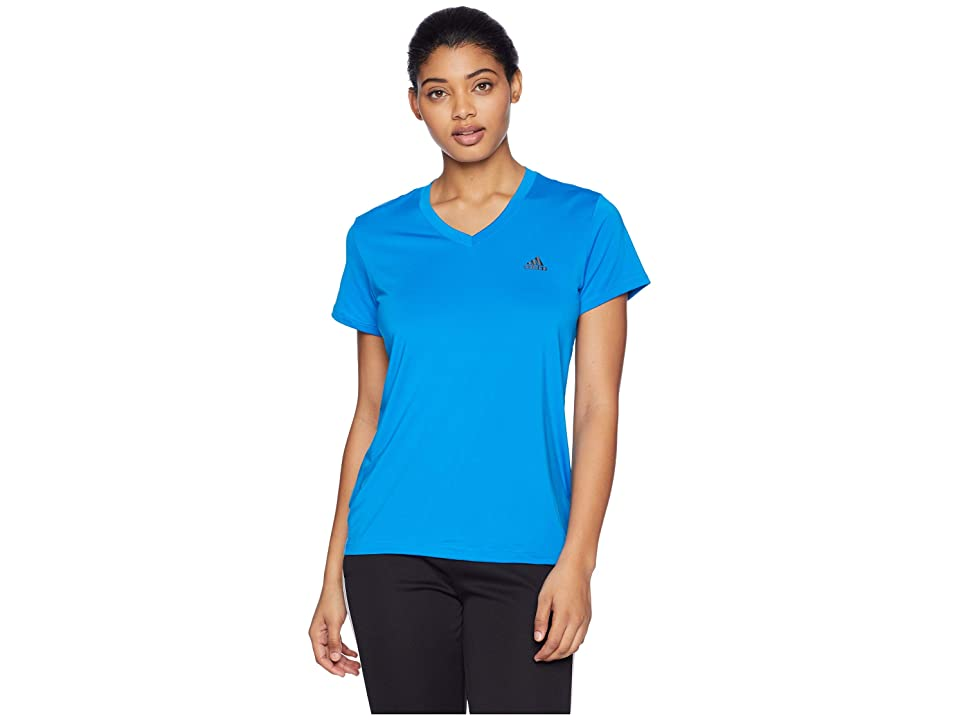 adidas Tech Tee (Bright Blue/Black) Women