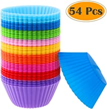 Silicone Muffin Cups, Selizo 54 Pcs Silicone Cupcake Baking Cups Reusable Muffin Liners Cupcake Wrapper Cups Holders for M...