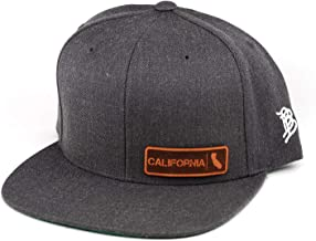 Branded Bills 'California Native' Leather Patch Snapback Hat - OSFA/Charcoal