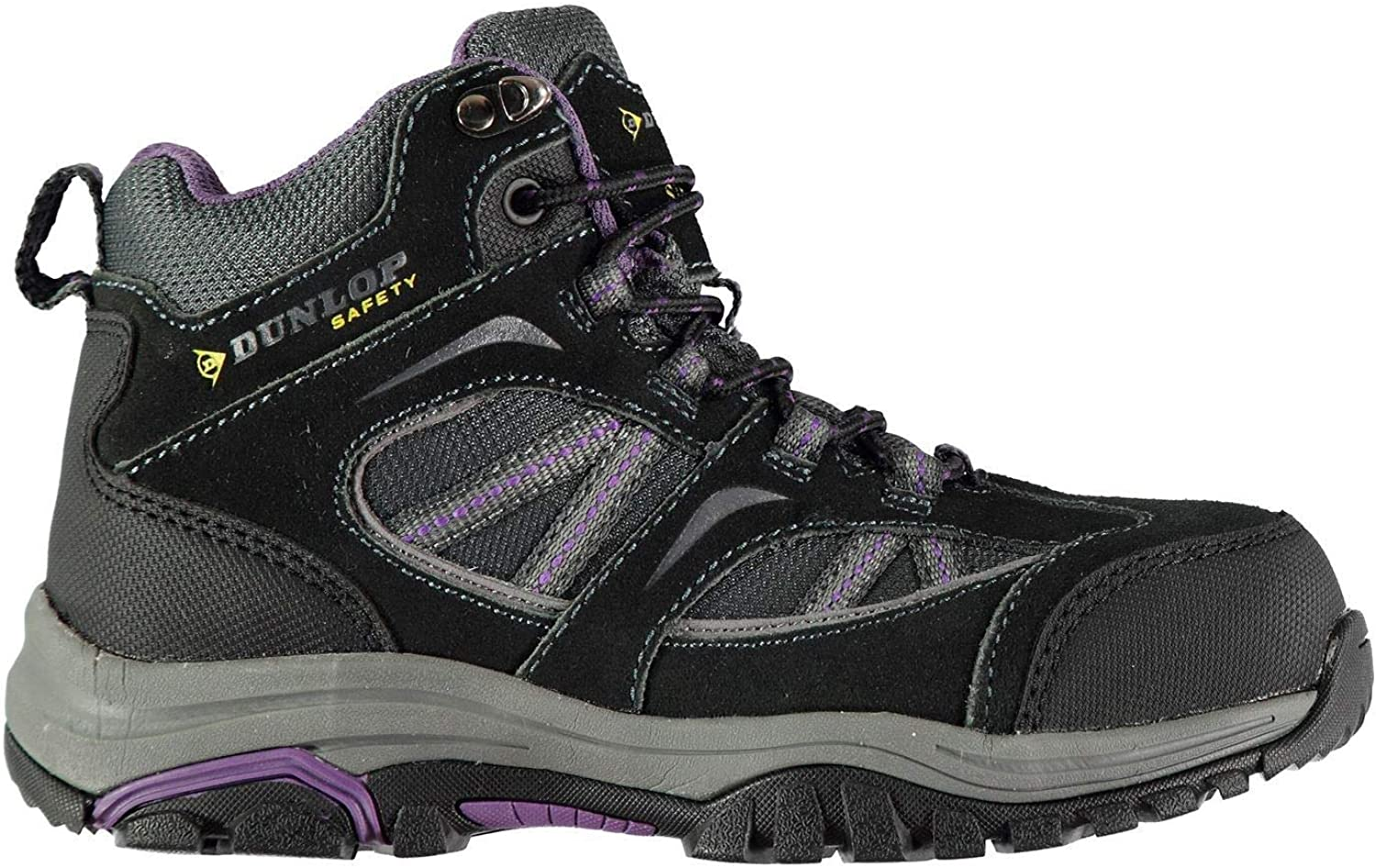 Official Brand Dunlop colorado Steel Toe Cap Safety Boots Womens Grey Purple Footwear shoes