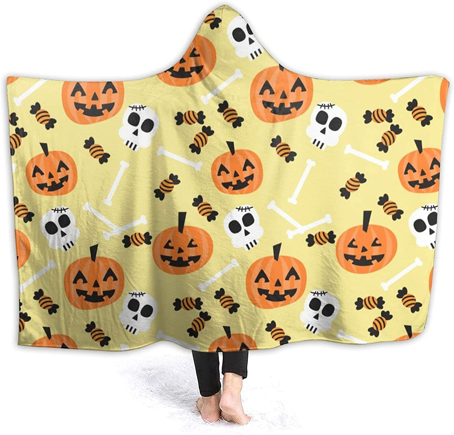 Halloween Cheap mail order shopping Hooded Max 49% OFF Blanket Wearable Cozy for Warm