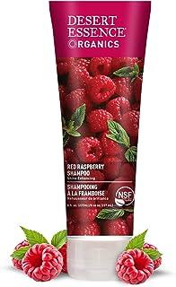 Desert Essence Organics Red Raspberry Shampoo - 8 Fl Oz - Gloss & Shine Enhancing - Strengthens Hair - Removes Everyday Pollutants - Vitamin A & C - Calcium - Magnesium - Certified Organic