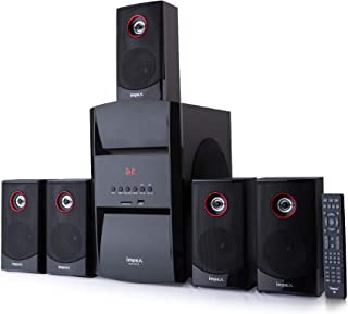Impex 5.1 Channel BLUE ROCK 140 W Multimedia Music Speaker System, Remote Control, USB, Bluetooth, FM Radio, Card Reader (...