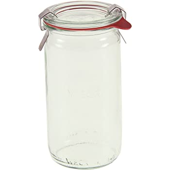 Weck 975 1/4L Cylindrical Jar Set of Six - 11.5 Ounce