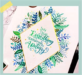3 pcs Hand Lettering Practice Copybook with 7 colorful Pens, Modern Calligraphy and Learn Hand Lettering and Brush Letteri...