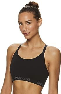 Reebok Women's Wireless Racerback Sports Bra - Medium Impact Seamless Workout Bralette