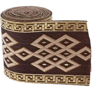 1 Yard Jacquard Stoff Band Ripsband Nähen Stoffband Bordüre mit Münzen
