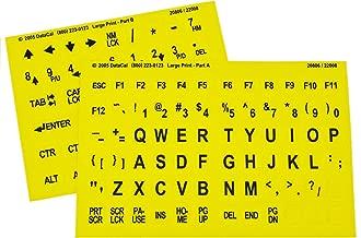 yellow keyboard stickers
