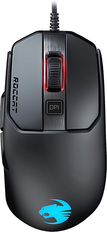 ROCCAT Kain 120 AIMO - Ratón (Mano Derecha, Óptico, USB, 16000 dpi, Negro)