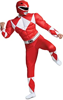 Men's Red Ranger Classic Muscle Adult Costume