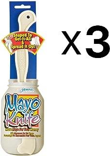Mayo Knife Shaped Plastic Spreader Jar Scraper Condiment Sandwich Tool (3-Pack)