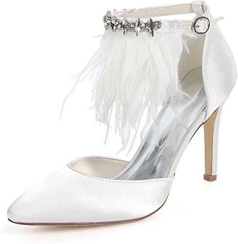 L@YC schuhe De Boda De Las damenes 9.5cm Tacones Altos Vestido De Gatito Nupcial Mid Chunky Flores Weiß Peep Toe Nuevo