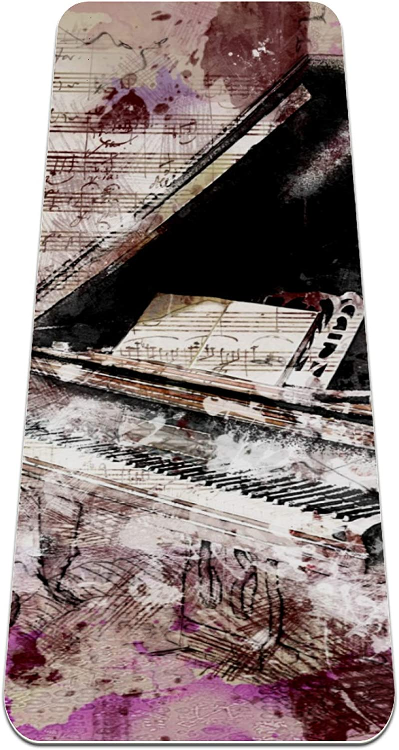 Siebzeh Art Piano All items in the store Musical Instrument Thick Mat Yoga Premium Max 74% OFF Eco