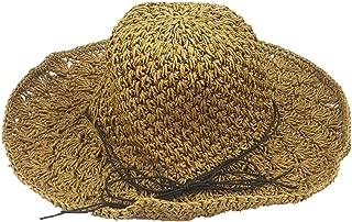 Lady Summer Sun Beach Straw Hats Fedora Outdoor UPF Protective hat