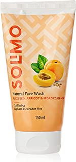 Amazon Brand - Solimo Natural Face Wash Flax Seed, Apricot & Mint, 150 ml