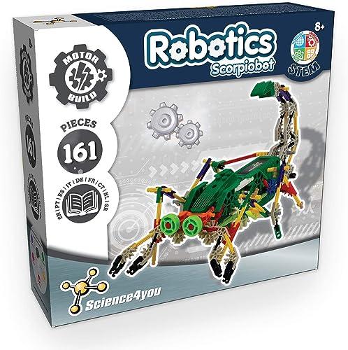 Science4you – Robotics Scorpiobot, Jouet Scientifique et éducatif, Jeux Stem pour Enfants 6 Ans