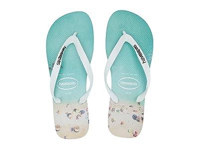 Havaianas Hype Flip Flops (White/Wave) Men