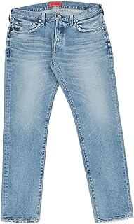 (レッドカード)redcard デニムパンツ メンズ スリムテーパードジーンズ ライトブルー Rhythm 正規取扱店