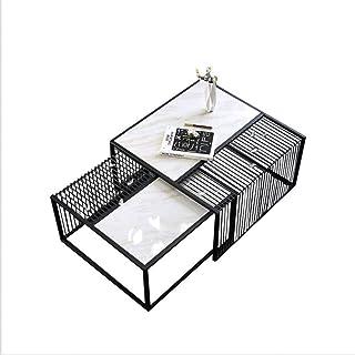 RSBCSHI Accessoires Home Accessoires Table Basse Minimaliste Style Italien Salon Sale Table Fonctuelle Fer Marbre Table Ba...