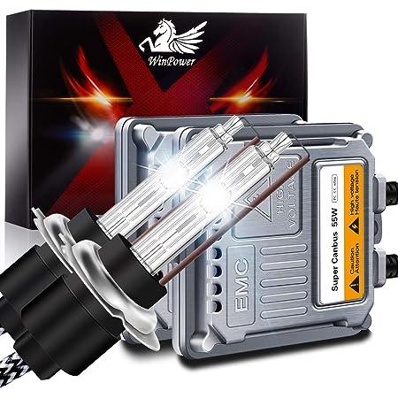 Txvso Neueste Mini 12 V 55 W Xenon Hid Conversion Kit Scheinwerfer Für Auto Fahrzeug Ersatz Halogenlampe Set H1 8000k Kristallblau Auto