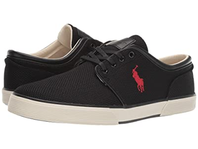 Polo Ralph Lauren Faxon Low (Black Knitted Mesh) Men
