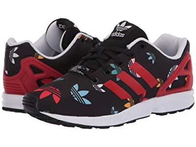 adidas Originals Kids ZX Flux (Big Kid) (Black/Lush Red/White) Kids Shoes