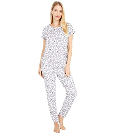 Kate Spade New York Brushed Jersey Long Pants Pajama Set (Floral Toss) Women