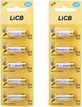 LiCB A23 12V Alkaline 23A Batteries (10-Pack)
