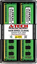 A-Tech 16GB DDR3 / DDR3L 1600MHz Desktop Memory Kit (2 x 8GB) PC3-12800 Non-ECC Unbuffered DIMM 240-Pin 2Rx8 1.35V Low Voltage Dual Rank Computer RAM Upgrade Sticks