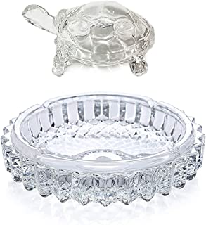 Crystal Glass Turtle-Tortoise for Feng Shui and Vastu with Pond Pot/Vastu/Feng Shui Glass Crystal Turtle Tortoise Showpiece Gift
