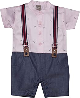 Little Kangaroos Baby Boy Formal Romper, Pink - ROGS2019390B